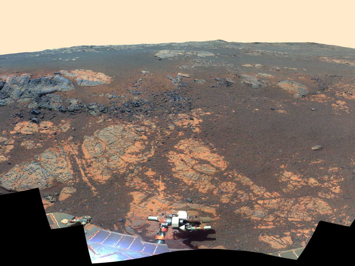 Mars 'Matijevic Hill' Panorama (False Color)