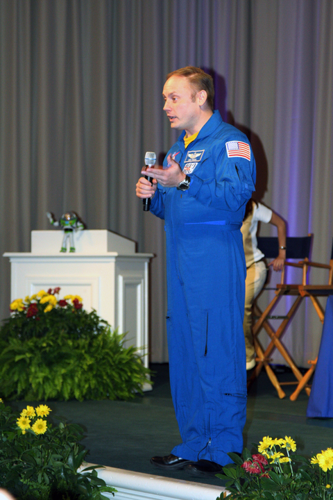 Astronaut Mike Fincke at Education Presentation
