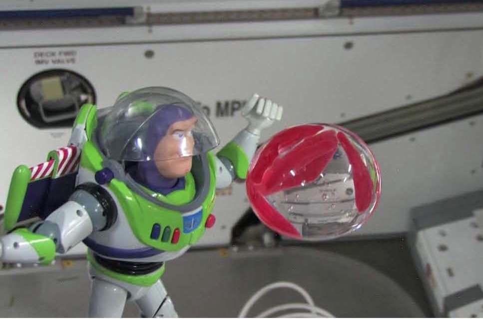 Buzz Lightyear With Fish in Bubble