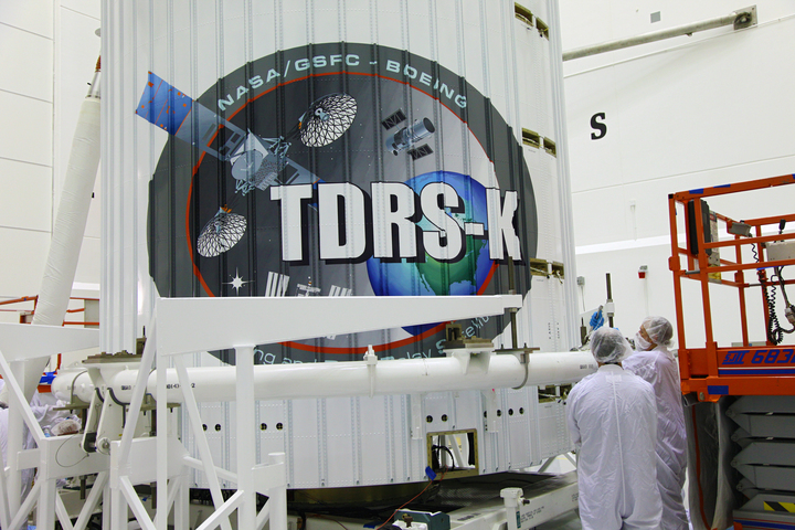 TDRS-K Spacecraft Inside Payload