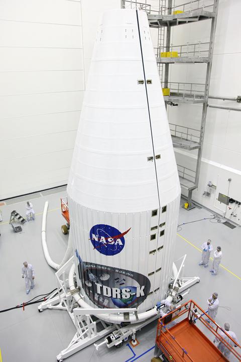 Technicians Work on TDRS-K Spacecraft