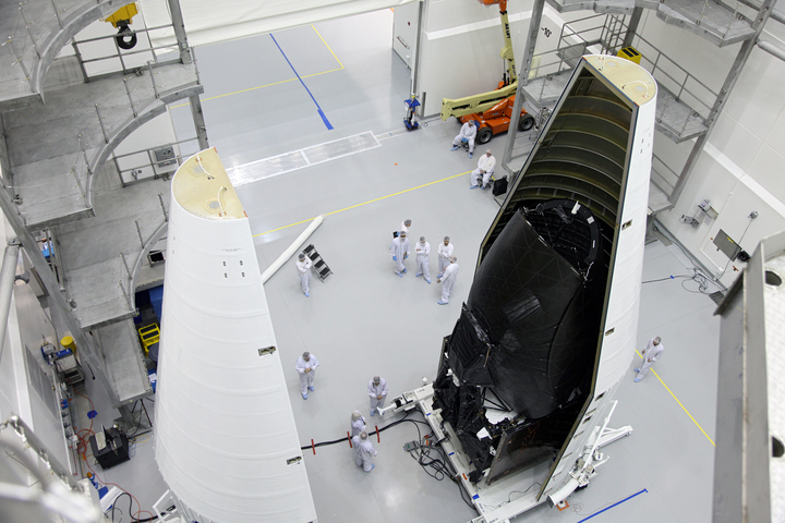 TDRS-K Spacecraft Inside Astrotech Payload