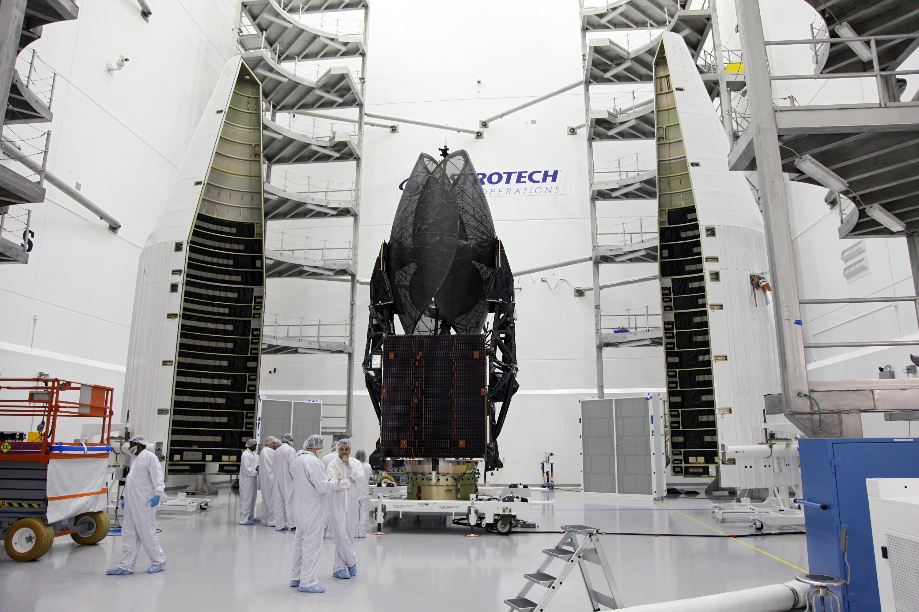 TDRS-K Stands Positioned