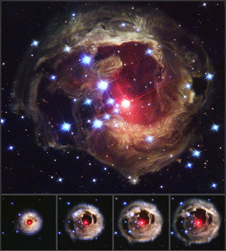 Outburst of V838 Monocerotis