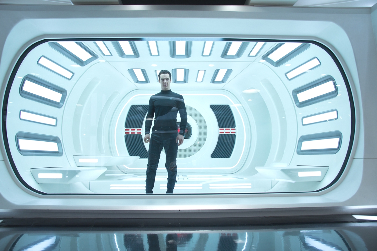 "Benedict Cumberbatch in New Film ""Star Trek Into Darkness."""