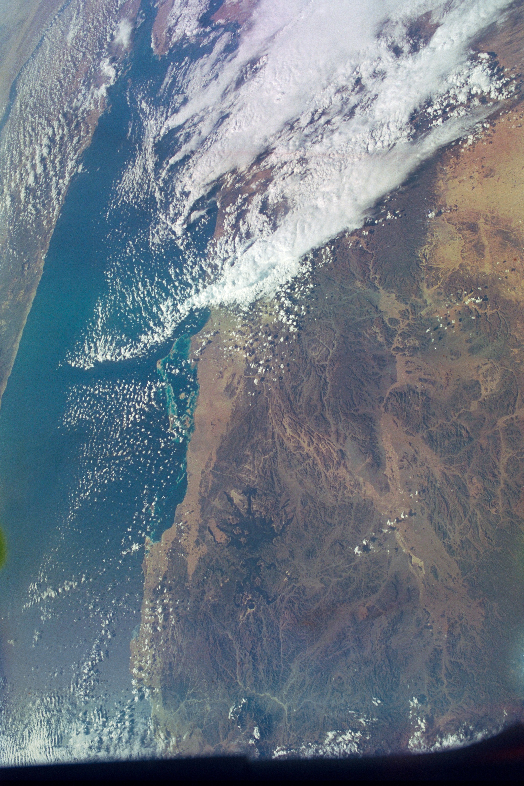 Earthview of Saudi Arabia, the Red Sea, Egypt, and the Nile River