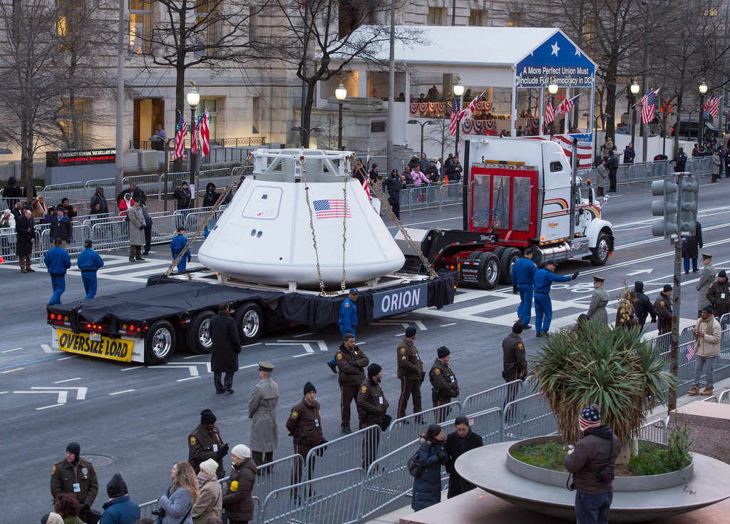 Orion Space Capsule at 2012 Inaugural Parade