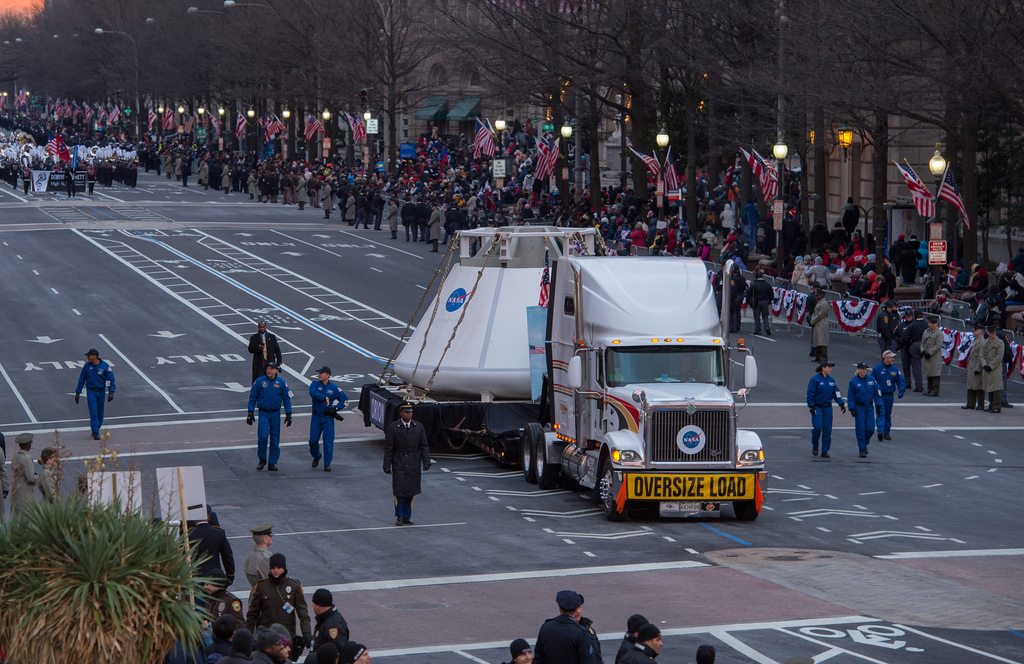 Orion Space Capsule Down Pennsylvania Avenue