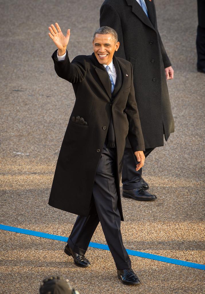 Obama at 2013 Inaugural Parade
