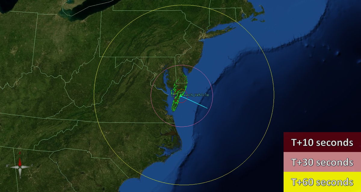 Visibility Map of Jan. 29, 2013, Sounding Rocket Launch