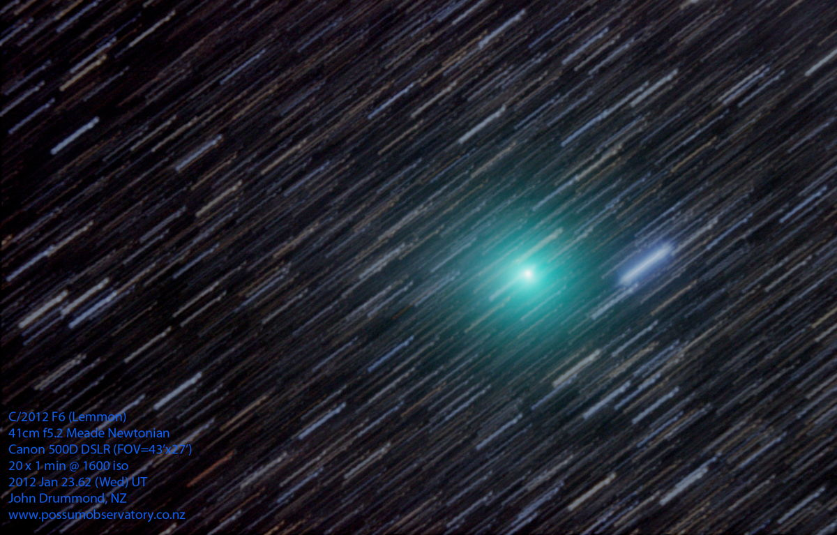 Stargazer Captures Amazing Photo of Comet Lemmon