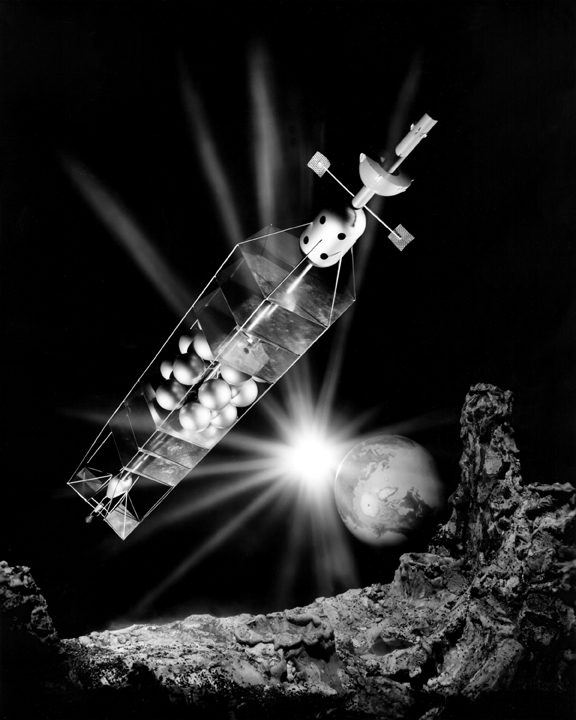 Space History Photo: Piloted Nuclear-Powered Spacecraft