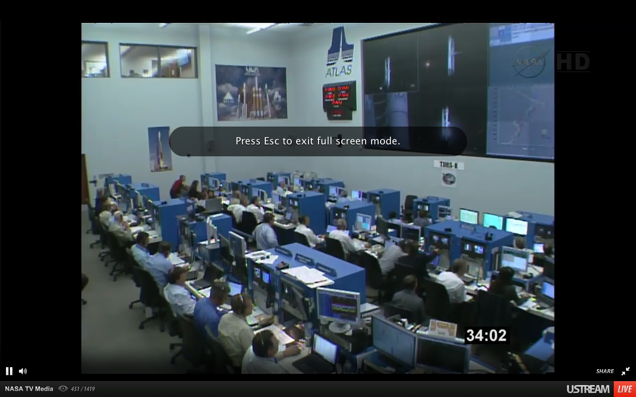Mission Control during TDRS-K Launch