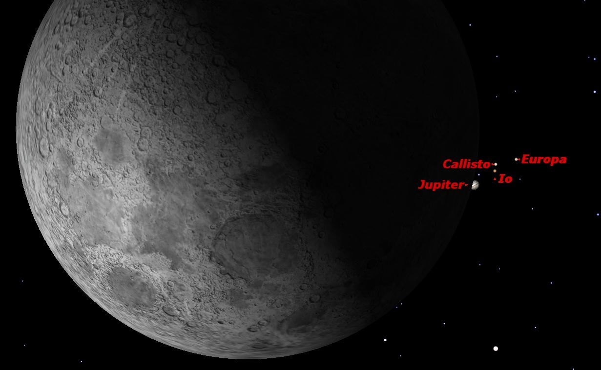 Jupiter and the Moon, February 2013