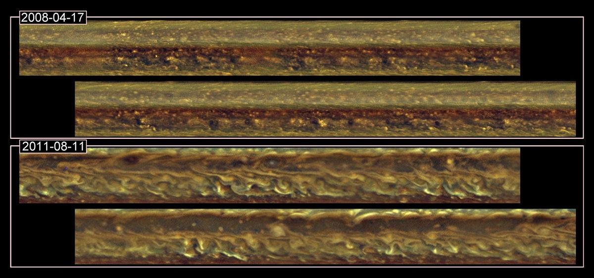 Saturn Storm Images
