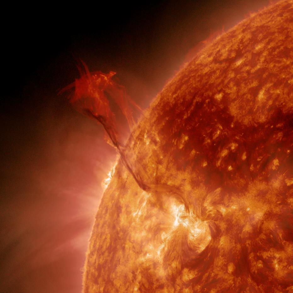 Filament Eruption on the Northeastern Limb of the Sun