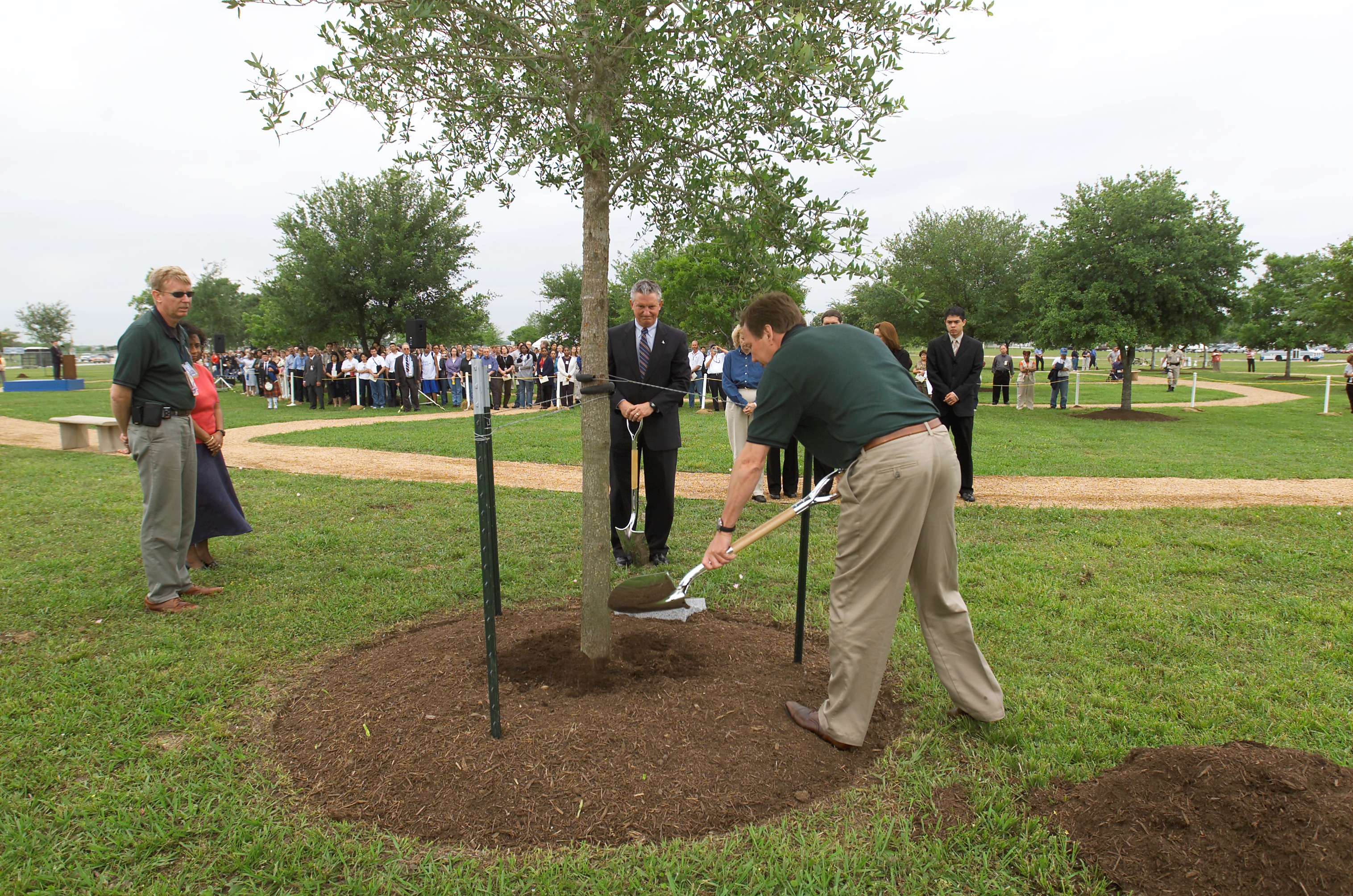 Tree Planting Ceremony for Columbia