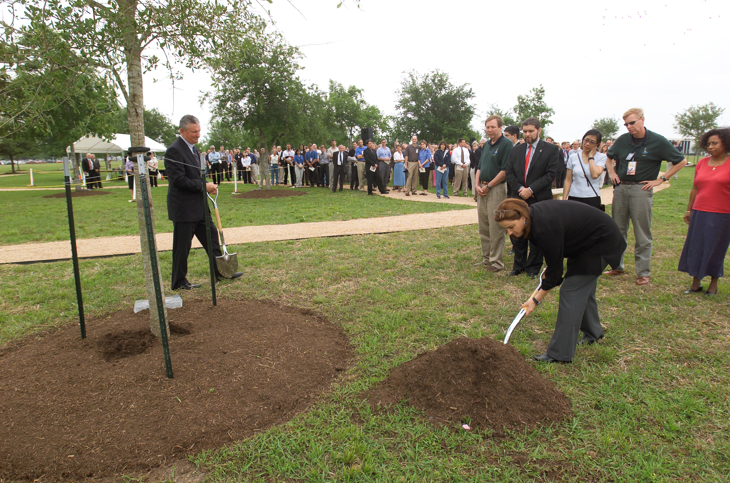 Astronaut Ilan Ramon's Wife Participates in Tree Planting Ceremony for Columbia Shuttle Memorial