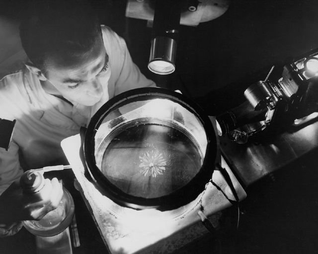 Space History Photo: NACA Physicist Studying Alpha Rays
