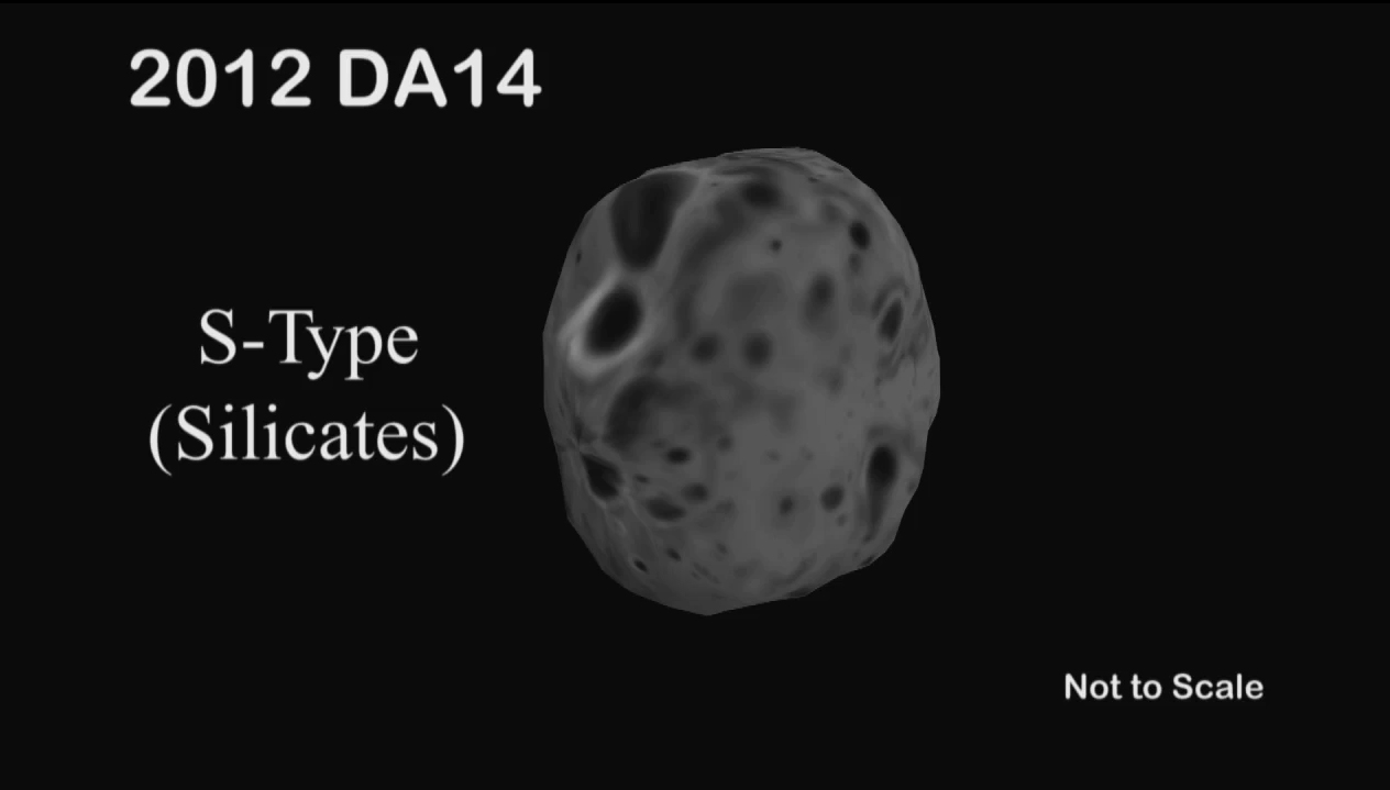 Asteroid 2012 DA14: S-Type Space Rock