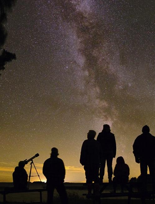 Swedish Stargazer Snaps Family Portrait with Milky Way