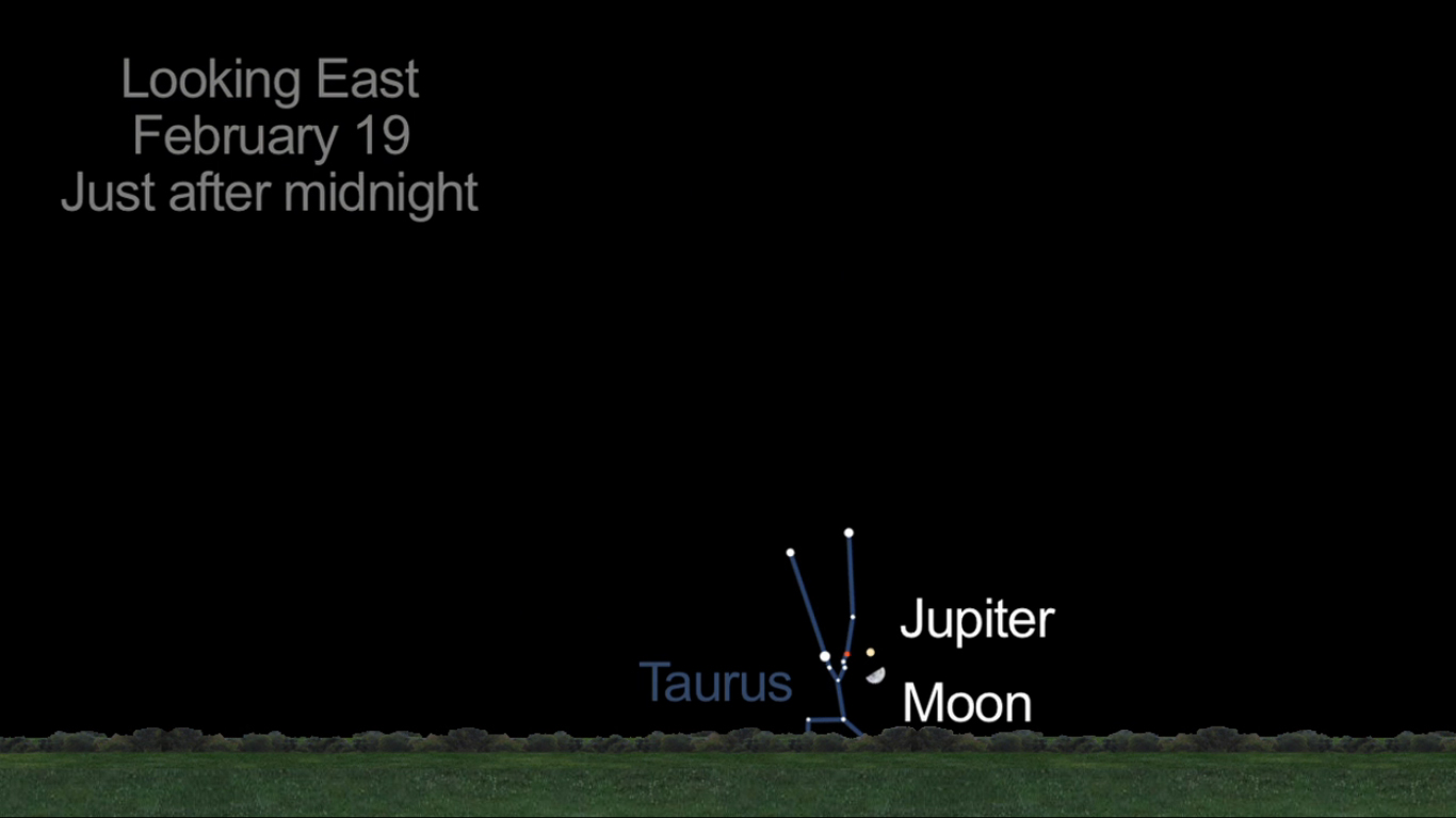 Jupiter and Moon Together: Feb. 19, 2013