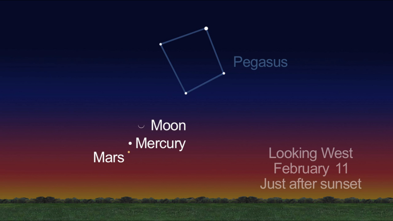 Moon, Mars and Mercury: Feb. 11, 2013