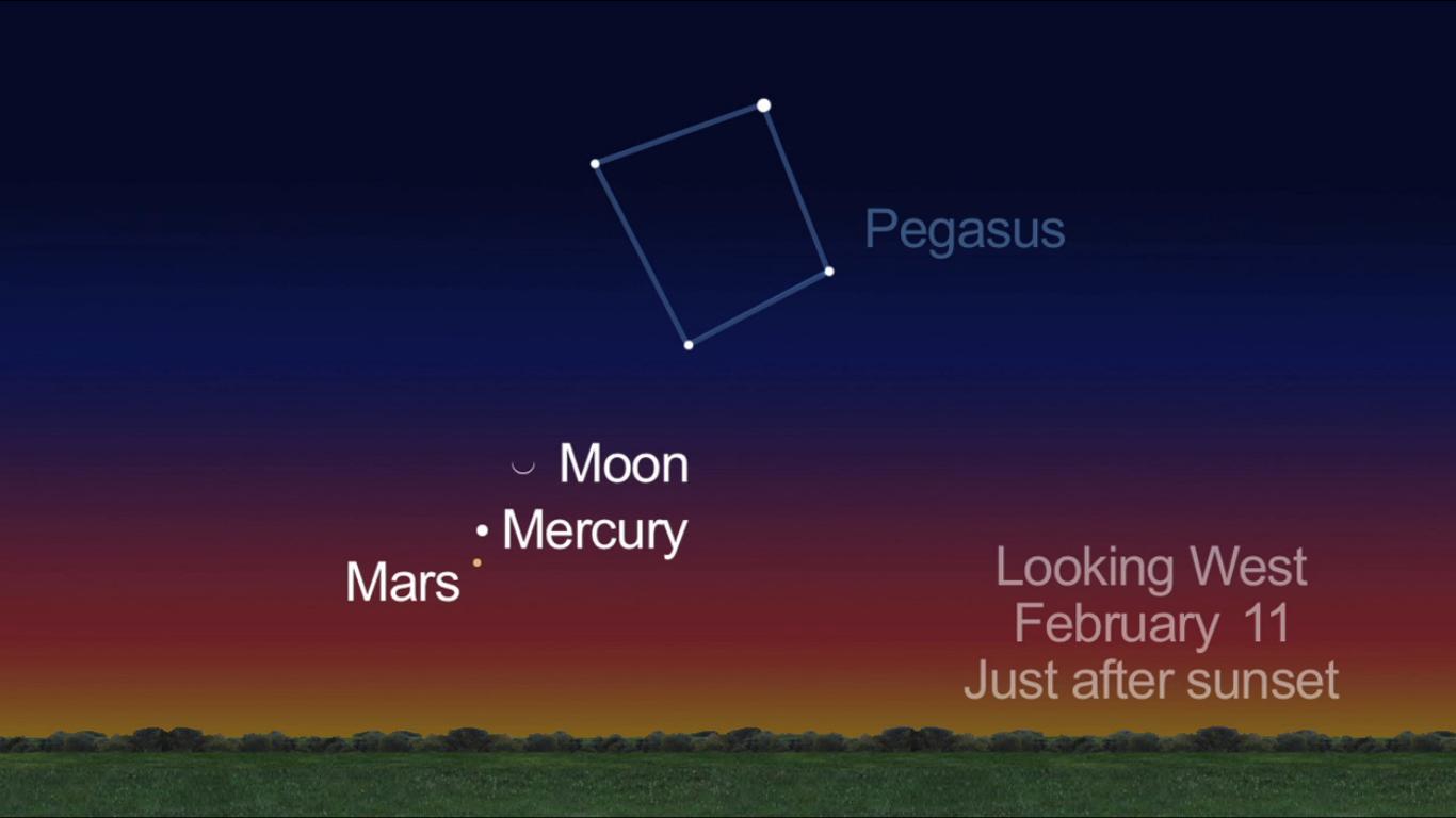 Moon, Mars and Mercury: Feb. 11, 2013