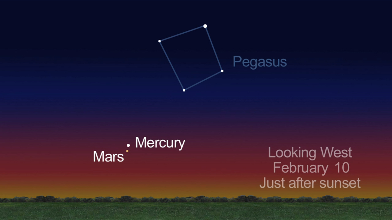 Mars and Mercury: Feb. 10, 2013
