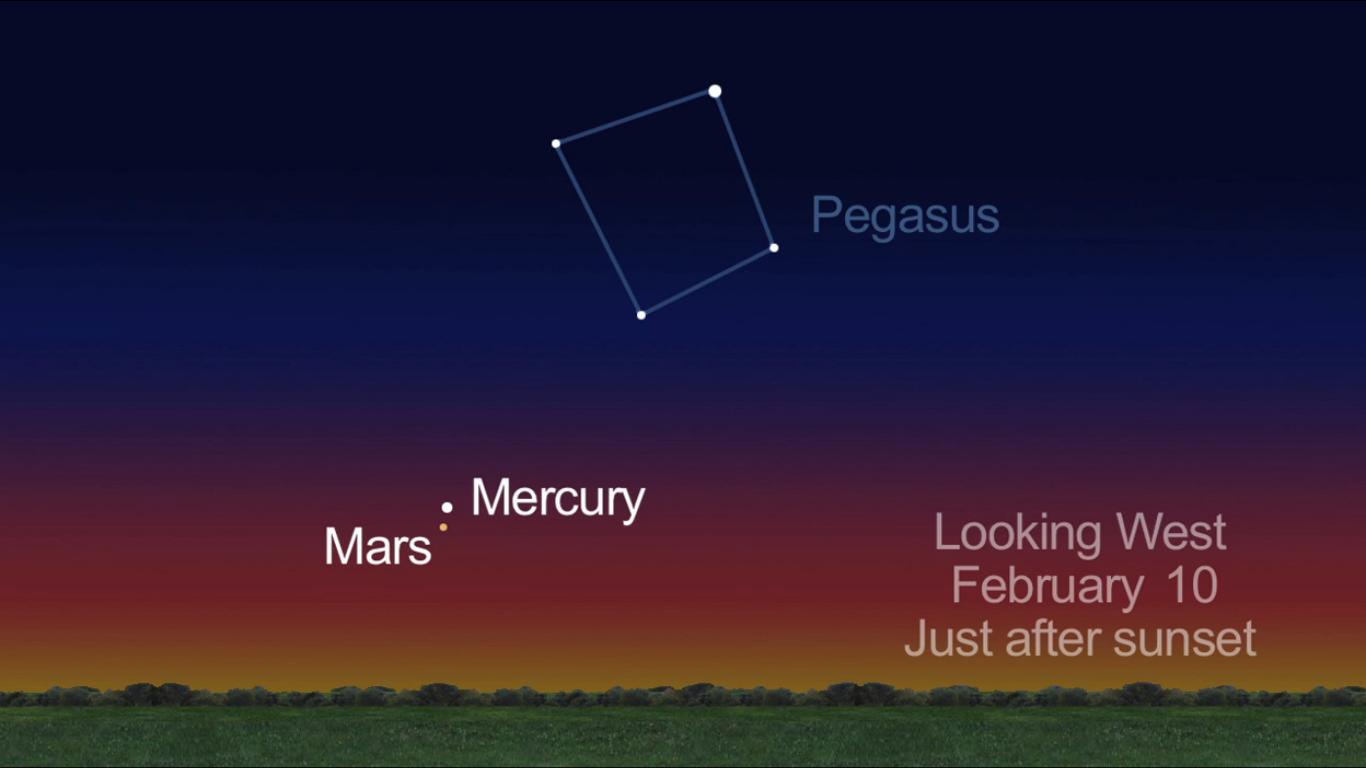 Mars and Mercury: Feb. 10, 2013