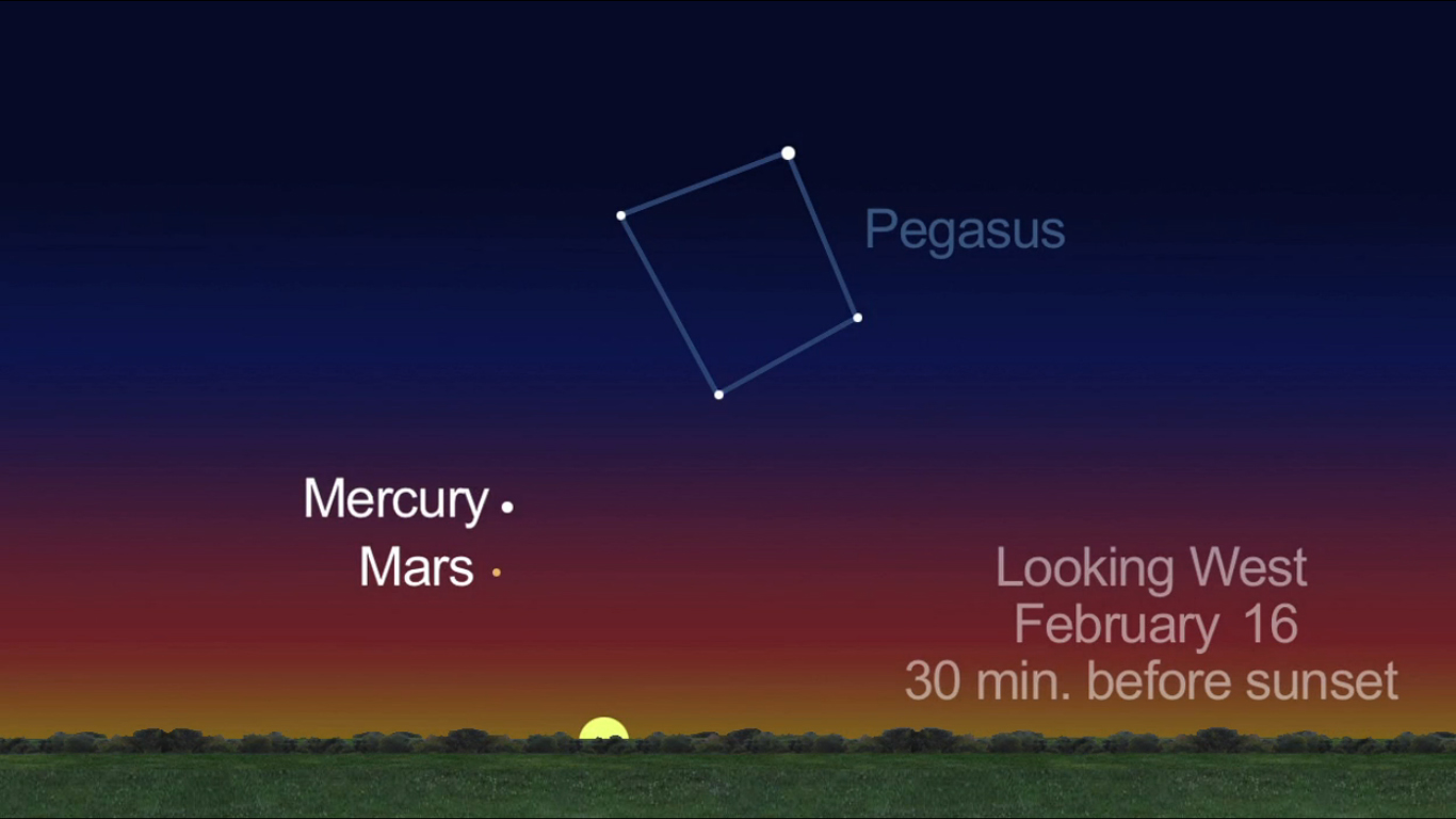 Mars and Mercury: Feb. 16, 2013