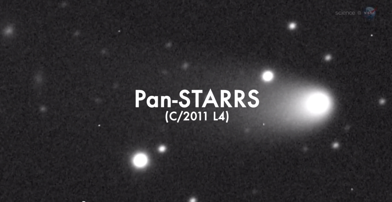 Comet Pan-STARRS Telescope Photo (Labeled)