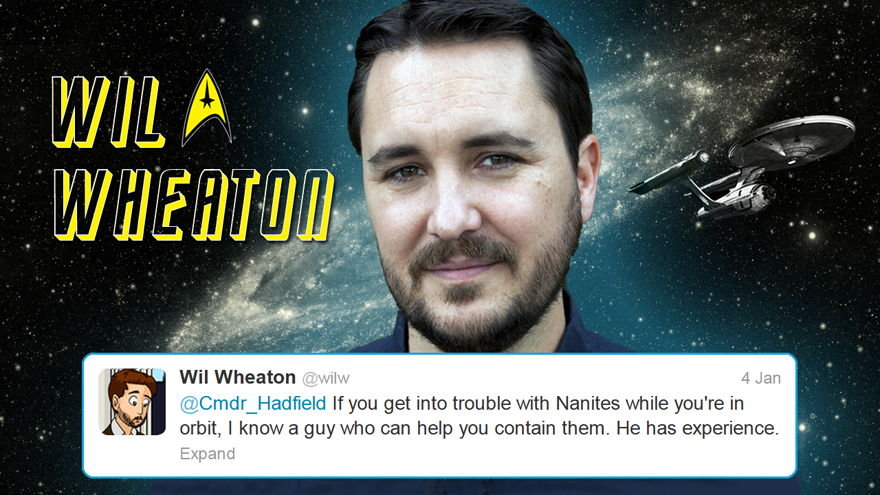 Wil Wheaton of ST:TNG Adds a Tweet