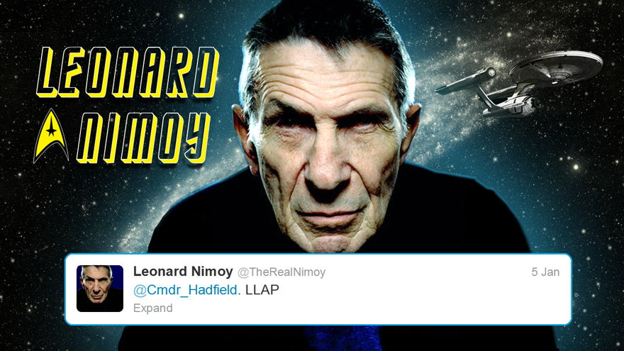 Leonard Nimoy Tweets Spock's Greeting: