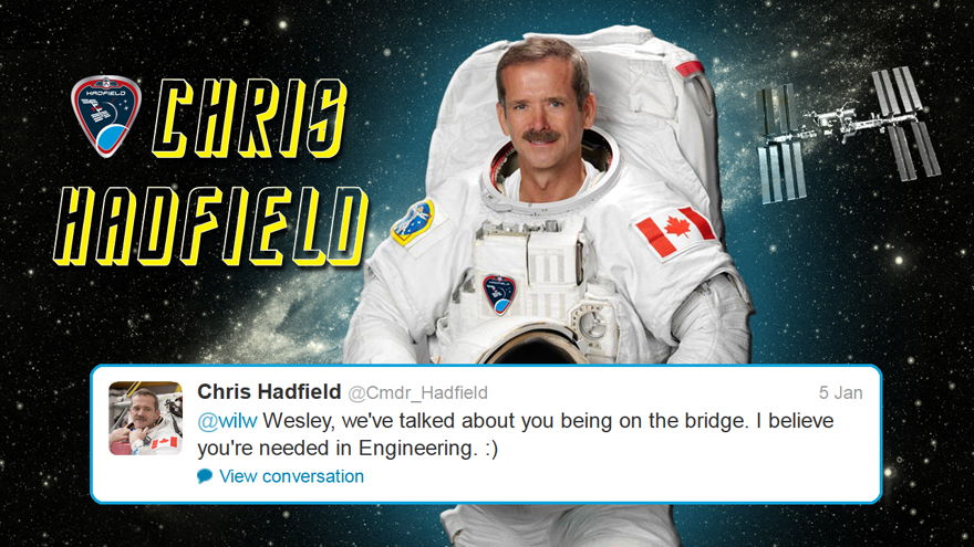 Hadfield Replies to Wheaton on Twitter
