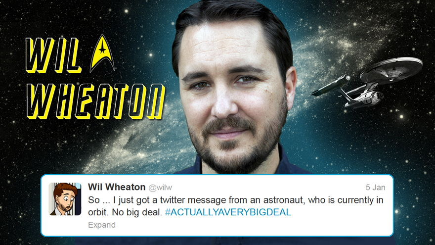 Wheaton Continues Twitter Conversation With Hadfield