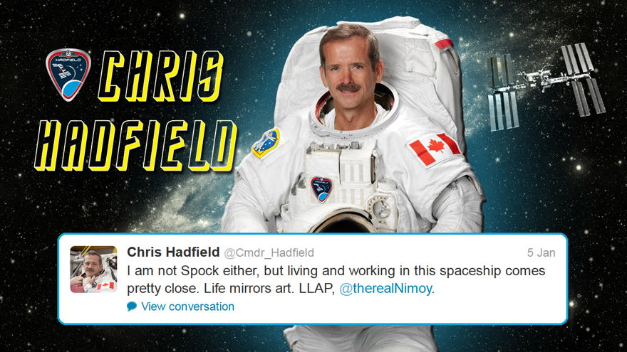 Hadfield Tweets Back to Leonard Nimoy