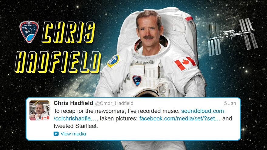 Hadfield Caps Off Twitter Star Trek Conversation
