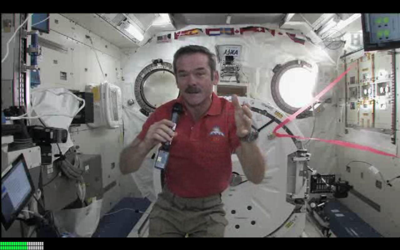 Commander Hadfield on the ISS Speaks With William Shatner