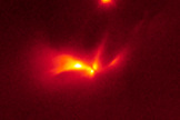 This infrared image from the NASA/ESA Hubble Space Telescope shows an image of protostellar object LRLL 54361. The image was released Feb. 7, 2013.