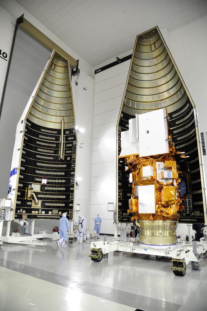 Fairing Encloses Landsat Satellite