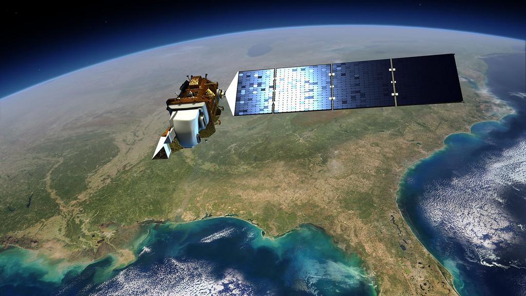 Artist Impression of Landsat in Orbit