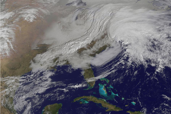 Nor'easter Spotted From Space in Satellite Photo