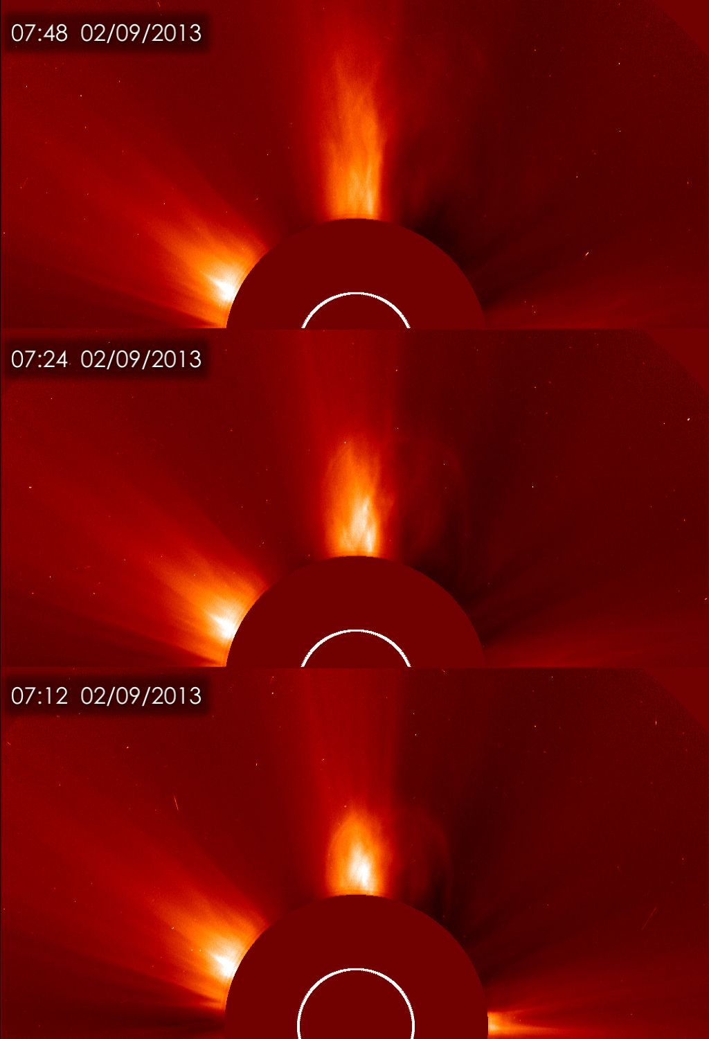 Solar Flare and Coronal Mass Ejection of Feb. 9, 2013