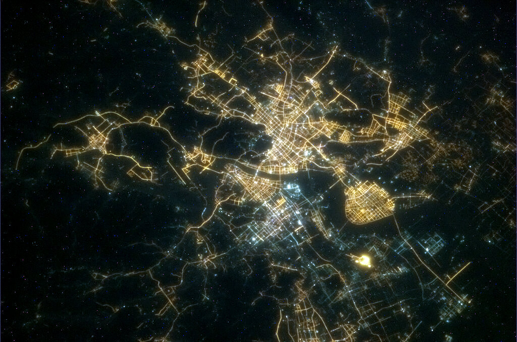 Hangzhou, China, City Lights: Hadfield