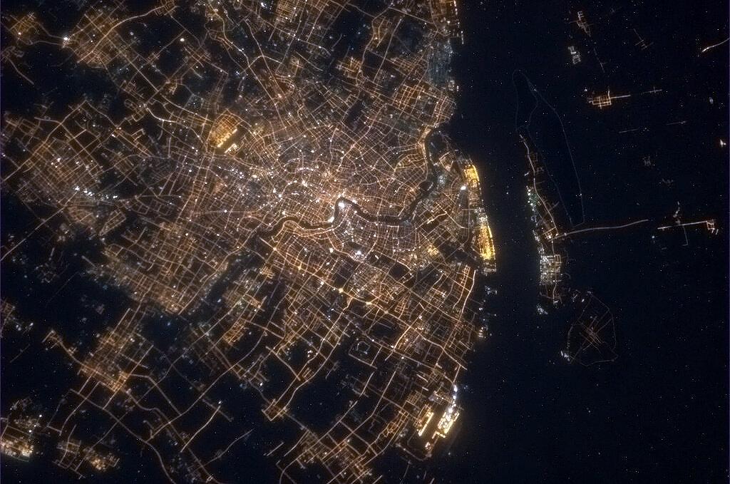 Shanghai, China, at Night: Hadfield
