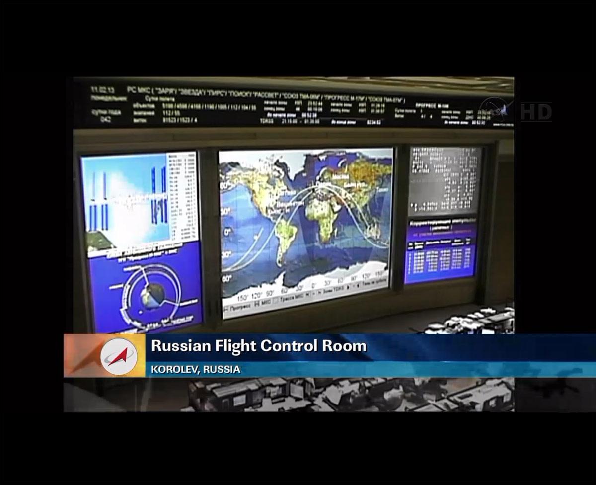 Russian Flight Control Room Before Progress 50 Docking