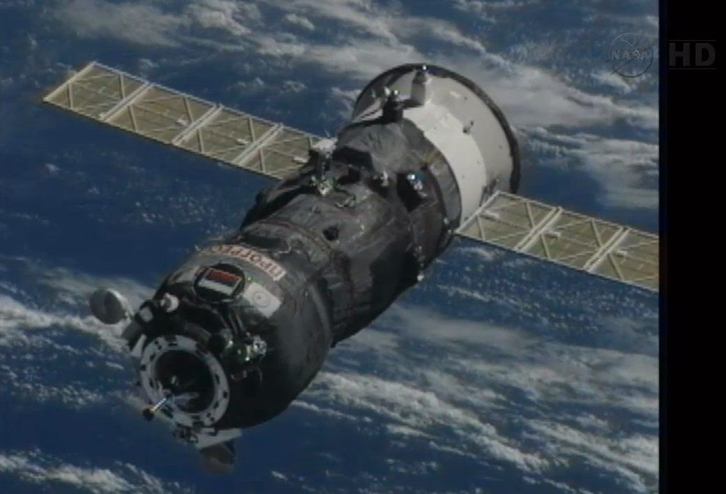 Progress 50 Supply Ship Flies Close to the ISS