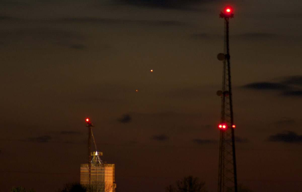 Mars and Mercury over Bowling Green, OH