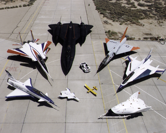 Space History Photo: 1997 Dryden Research Aircraft Fleet on Ramp